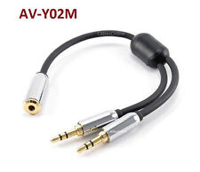 6 inch 3.5mm Stereo Mobile-Type Female to 2-Male Audio Headphone Y-Splitter