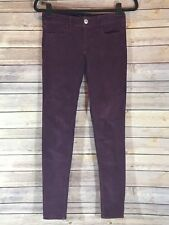 American Eagle Outfitters Burgundy Corduroy Jeggings Size 00