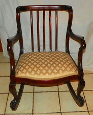 Early Empire Mahogany Carved Rocker / Rocking Chair (R238)