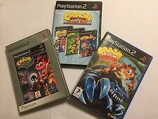 5x PS2 GIOCHI Crash Bandicoot Nitro Kart TAG TEAM RACING TWINSANITY corteccia Titans
