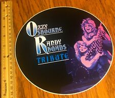 Ozzy Osbourne/ Giant Sticker/ 1980's/ Unpeeled/ Tribute/ Randy Rhoads/ Original