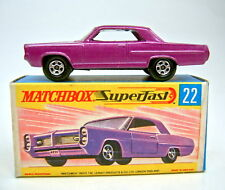 MATCHBOX SUPERFAST n. 22a Pontiac Grand Prix brillante grapemetallic TOP IN BOX
