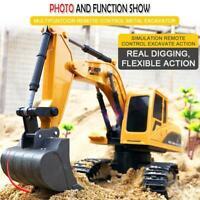 Remote Control Excavator Tractor Bulldozer Crawler Truck Toy Digger