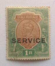 India Postage Stamp - 1R, George V (1910-1936), franked/used (Elephants)