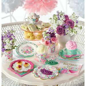 Floral Afternoon Tea Party Range: tableware cups plates napkins or decorations