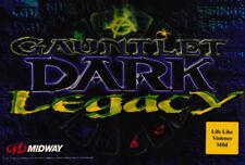 "Gauntlet Dark Legacy Arcade Marquee 23.25"" X 15.75"""