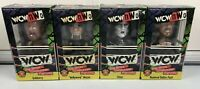 Vintage WCW NWO Wrestling Hulk Hogan, Sting, DDP, Goldberg Bobblehead Lot Of 4
