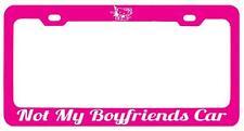 Pink METAL License Plate Frame NOT MY BOYFRIENDS CAR HELLO KITTY(white) Auto