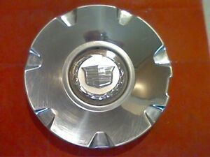 2004 - 2012 Cadillac Deville CTS STS Polished Center Cap non color logo M1 6.25""