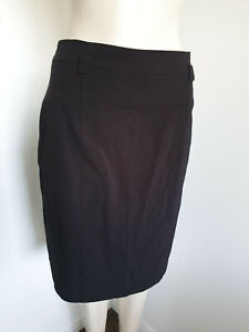 Calvin Klein Black Pencil Straight Career Skirt Size 10