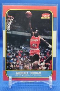 1986 Fleer Premium Michael Jordan Rookie Card! #57 Near Mint++ to Mint Condition