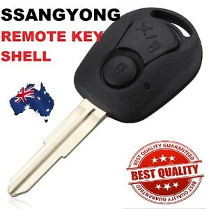 Ssangyong 2 BUTTON Remote Key Case SHELL Suit Actyon SUV Kyron Rexton