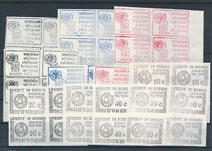 [G44052] Ukraine Bosnia Good lot blocks of 4 Labels VF Mint no gum