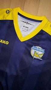 hammer ⚽️Blau/gelb  JAKO Fußballtrikot Trainingsshirt Gr 164 Hans Dorfner