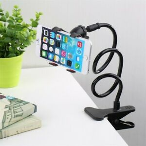 Mobile Phone Holder Clamp Bed Lazy Stand Flexible Long Arm For iPhone & Samsung.