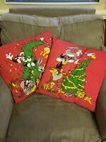 "2 Looney Tunes 17.5"" Christmas Pillows Warner Bros Bugs Bunny Daffy Taz Tweety"