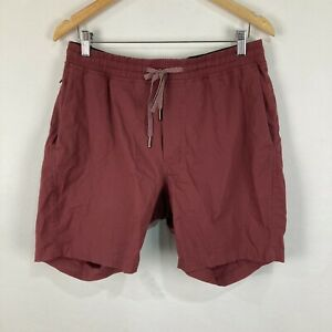 Lululemon Mens Shorts Size L Large Brown Elastic Waist Drawstring Pockets