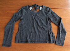 Lululemon Sattva Women's Pullover Size 4/6 Tie Back Black Gray Sweatshirt