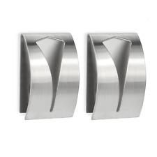 Tea Towel Holders - Set of 2 Self Adhesive Stainless Steel Towel Hooks M&W