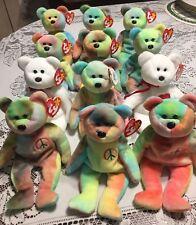 Ty Beanie Babies Lot of 12 Retired Bears Bears Bears Retired Peace & Valentino