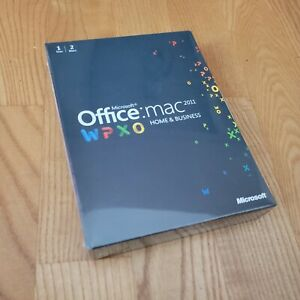 MS Microsoft Office MAC 2011 Home and Business Licensed 2 MACs BOX NEW SEALED