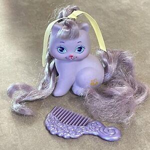 Vintage Mattel My Little Pretty Kitty Zizi Purple Hair Bee Pony Friend Kitten