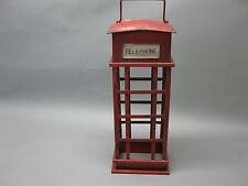 Metall  Weinregal alte englische Telefonzelle 50cm hoch  x 14cm x 13cm chabby