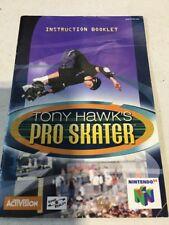 SUPER NINTENDO MANUAL TONY HAWK'S PRO SKATER GAME INSTRUCTIONS SNES NES HQ
