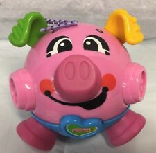 Fischer Price Pink Blue Bumble Ball Vibrating Pig Works Requires Batteries