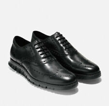 Mens Cole Haan Zerogrand Wingtip Oxford - Black Leather, Size 8