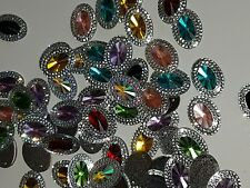 Multicolour Sew On Stitch JEWEL GEM CRYSTAL RHINESTONE Bead Crystal DANCE