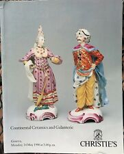 CHRISTIES Auction Catalog 5/14/1990 Continental Ceramics & Galanterie - Geneva