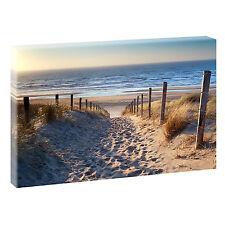 Weg zum Strand Bild Strand Meer Keilrahmen Leinwand Poster XXL 120 cm*80 cm 544b