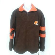 The Edge Pullover Fleece Cleveland Browns Sweater 1/4 Zip LS Mens Large L X1