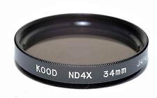 Kood ND4 2 stop Neutral density filter Made in Japan 34mm