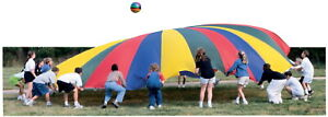 Sportime GripStarChute Colorful Parachute with 22 Handles, 24 Foot Diameter