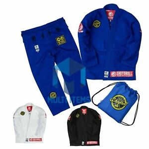 Shoyoroll RVCA BJJ Gi Jiu-jitsu Brand New Blue'Black'White Uniform Batch #71