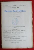 1909 - Revue des Poètes - N° 138 - Inauguration du Monument d'André Lemoyne
