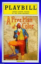 Playbill + A Free Man of Color + Sara Gettelfinger , Veanne Cox , Jeffrey Wright