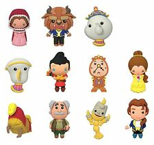 Disney Beauty And The Beast Blind Bag Collectible Key Rings Novelty, Yellow/pink