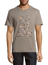 PSYCHO BUNNY BY ROBERT GODLEY T-SHIRT STONE CAMO MENS SIZE LARGE NEW WITH TAGS