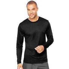 Hanes 482L Cool Dri Long Sleeve Performance T-shirt L Black