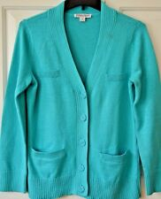Pendleton Women's Small Turquoise Cotton Cardigan Sweater