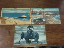 3 Postcards - Atlantic City Elephant Hotel-Heinz Pier-World'S Playground