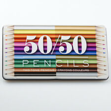 Tin of coloured pencils