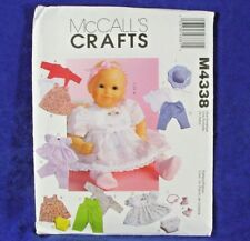Reduced! McCall's 4338 BABY DOLL CLOTHES IN TWO SIZES Pattern