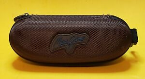 Maui Jim sunglass Soft Empty Case, Brown With Zipper, and clip.
