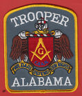 ALABAMA TROOPER MASON MASONIC POLICE SHOULDER PATCH