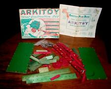 VTG ARKITOY Wood Toy Construction Set No.1Erector Set Mechanical Toy CARROM IND.