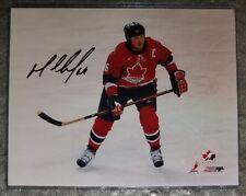 Mario Lemieux HOF Team Canada SIGNED 8 x 10 photo TOP LOADER Penguins AUTHENTIC
